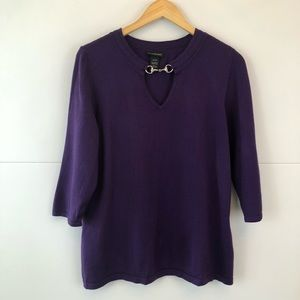 Lane Byrant | Purple 3/4 Sleeve Top Size 14/16